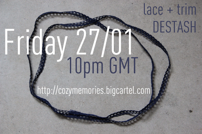 lace & trim destash, today !